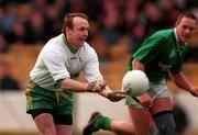 AIB All Ireland Club Championships Finals Corofin v Erin's Isle 17/3/1998 Martin McNamara Corofin and Johnny Barr Erin's Isle Photograph Brendan Moran SPORTSFILE