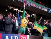 All-Ireland Club Football FInal, Corofin v Erin's Isle, Croke Park. 17/3/98. Corofin captain Ray Silke lifts the Andy Merrigan Cup after his side defeated Erin's Isle. Photograph ©ÊBrendan Moran SPORTSFILE.