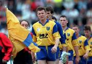 Connacht Football Championship semi-final, Mayo v Roscommon, 23/6/96. Roscommon captain David O'Connor leades his team in the parade before their match with Mayo. Photograph © Ray McManus SPORTSFILE.