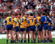 Connacht Football Championship semi-final, Mayo v Roscommon, 23/6/96. The Roscommon team huddle together before their match with Mayo. Photograph © Ray McManus SPORTSFILE.