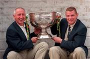 Meath manager Sean Boylan, left, and team captain Tommy Dowd with the Sam Maguire Cup at a reception for the 2 All-Ireland Final teams at Croke Park. 30/9/96. Photograph: David Maher SPORTSFILE.