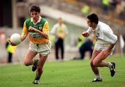 25 June 2000; Vinny Claffey of Offaly in action against Ken Doyle of Kildare during the Bank of Ireland Leinster Senior Football Championship Semi-Final match between Kildare and Offaly at Croke Park in Dublin. Photo by Aoife Rice/Sportsfile