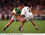 25 June 2000; Vinny Claffey, Offaly, in action against Ken Doyle, Kildare. Offaly v Kildare, Leinster Senior Football Championship, Croke Park, Dublin. Picture credit; Aoife Rice/SPORTSFILE