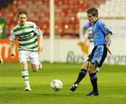 18 April 2008; Shane Fitzgerald, UCD, in action against Dessie Baker, Shamrock Rovers. eircom league of Ireland Premier Division, Shamrock Rovers v UCD, Tolka Park, Dublin. Picture credit; Stephen McCarthy / SPORTSFILE