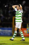 18 April 2008; A dejected Darragh Maguire, Shamrock Rovers, after the game. eircom league of Ireland Premier Division, Shamrock Rovers v UCD, Tolka Park, Dublin. Picture credit; Stephen McCarthy / SPORTSFILE