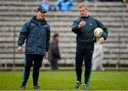 5 April 2015; Dublin manager Jim Gavin with selector Declan Darcy. Allianz Football League, Division 1, Round 7, Monaghan v Dublin. St Tiernach's Park, Clones, Co. Monaghan. Picture credit: Brendan Moran / SPORTSFILE