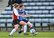 11 April 2015; Carys Johnson, UCC, in action against Aisling Nugent, UCD. WSCAI Intervarsities Cup Final, UCD v UCC, Waterford IT, Waterford. Picture credit: Matt Browne / SPORTSFILE