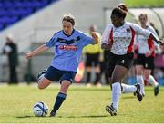 11 April 2015; Ciara Grant, UCD, in action against Vanessa Ogbonna, UCC. WSCAI Intervarsities Cup Final, UCD v UCC, Waterford IT, Waterford. Picture credit: Matt Browne / SPORTSFILE