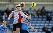 11 April 2015; Lauren Murphy, UCC, in action against Sarah Clune, UCD. WSCAI Intervarsities Cup Final, UCD v UCC, Waterford IT, Waterford. Picture credit: Matt Browne / SPORTSFILE