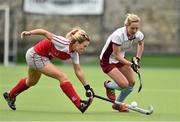 12 April 2015; Nicci Daly, Loreto, in action againsty Kate McConnell, Pegasus. Irish Hockey League 2015, Women's Final, Pegasus v Loreto, Grange Road, Rathfarnham, Dublin. Picture credit: Matt Browne / SPORTSFILE