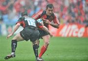 27 April 2008; Rua Tipoki, Munster, in action against Kevin Sorrell, Saracens. Heineken Cup Semi-Final, Saracens v Munster, Ricoh Arena, Coventry, England. Picture credit: Brendan Moran / SPORTSFILE  *** Local Caption ***