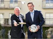 16 April 2015; The Irish Sports Council and the GPA today announced grants for 2015. In attendance at the announcement are Minister of State for Tourism and Sport, Michael Ring TD, left, and Dessie Farrell, Chief Executive of the GPA. Merrion Hotel, Dublin. Picture credit: Pat Murphy / SPORTSFILE