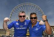 18 April 2015; Leinster supporters Garret O'Brolchain, from Churchtown, Dublin, left, and Greg Ryan, from Blackrock, Dublin, in Marseille ahead of their side's European Rugby Champions Cup Semi-Final clash with RC Toulon. Picture credit: Stephen McCarthy / SPORTSFILE