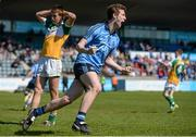 18 April 2015; Aaron Elliot, Dublin, celebrates scoring his side's second goal of the game. Electric Ireland Leinster GAA Football Minor Championship, Dublin v Offaly, Parnell Park, Dublin. Picture credit: Piaras Ó Mídheach / SPORTSFILE
