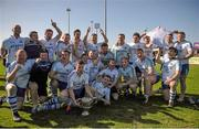 18 April 2015; The Cork Constitution team celebrate after their victory. Bateman Cup Final, Cork Constitution v Clontarf. Temple Hill, Cork. Picture credit: Eoin Noonan / SPORTSFILE
