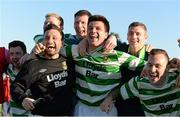 18 April 2015; Sheriff YC players celebrate after defeating Clonmel Celtic.  FAI Aviva Junior Cup Semi-Final, Clonmel Celtic v Sheriff YC. Cooke Park, Tipperary Town, Co. Tipperary. Picture credit: Diarmuid Greene / SPORTSFILE