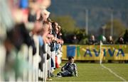 18 April 2015; A young supporter looks on from the sideline during the second half.  FAI Aviva Junior Cup Semi-Final, Clonmel Celtic v Sheriff YC. Cooke Park, Tipperary Town, Co. Tipperary. Picture credit: Diarmuid Greene / SPORTSFILE