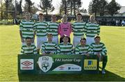 18 April 2015; The Sheriff YC team.  FAI Aviva Junior Cup Semi-Final, Clonmel Celtic v Sheriff YC. Cooke Park, Tipperary Town, Co. Tipperary. Picture credit: Diarmuid Greene / SPORTSFILE