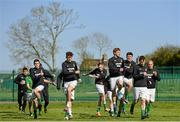 18 April 2015; The Sheriff YC team warm up before the game.  FAI Aviva Junior Cup Semi-Final, Clonmel Celtic v Sheriff YC. Cooke Park, Tipperary Town, Co. Tipperary. Picture credit: Diarmuid Greene / SPORTSFILE