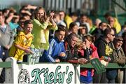 18 April 2015; Sheriff YC and Clonmel Celtic supporters during the game.  FAI Aviva Junior Cup Semi-Final, Clonmel Celtic v Sheriff YC. Cooke Park, Tipperary Town, Co. Tipperary. Picture credit: Diarmuid Greene / SPORTSFILE