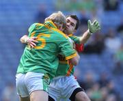 18 May 2008; Pauric Bambrick, Carlow, attempts to tackle Graham Geraghty, Meath. GAA Football Leinster Senior Championship 1st Round, Meath v Carlow, Croke Park, Dublin. Picture credit: Brendan Moran / SPORTSFILE