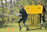 22 April 2015; Caoimhin Kelleher, Republic of Ireland, in action during squad training. Republic of Ireland U17 Squad Training, Johnstown House Hotel, Enfield, Co. Meath. Picture credit: Pat Murphy / SPORTSFILE