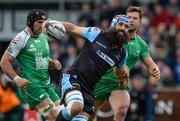 25 April 2015; Josh Strauss, Glasgow Warriors, is tackled by Danie Poolman, Connacht. Guinness PRO12, Round 20, Connacht v Glasgow Warriors. Sportsground, Galway. Picture credit: Oliver McVeigh / SPORTSFILE