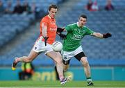 25 April 2015; Kevin Dyas, Armagh, in action against Mickey Jones, Fermanagh. Allianz Football League, Division 3, Final, Armagh v Fermanagh. Croke Park, Dublin. Picture credit: Paul Mohan / SPORTSFILE