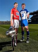 27 April 2015; In attendance at a photocall ahead of the Allianz Hurling League Division 1 Final this weekend are Cork's Lorcan McLoughlin, left, and Waterford's Pauric Mahony. Croke Park, Dublin. Picture credit: Ramsey Cardy / SPORTSFILE
