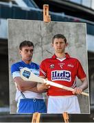 27 April 2015; In attendance at a photocall ahead of the Allianz Hurling League Division 1 Final this weekend are Cork's Lorcan McLoughlin, right, and Waterford's Pauric Mahony. Croke Park, Dublin. Picture credit: Ramsey Cardy / SPORTSFILE