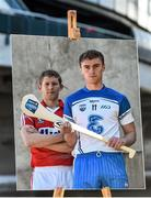 27 April 2015; In attendance at a photocall ahead of the Allianz Hurling League Division 1 Final this weekend are Waterford's Pauric Mahony, right, and Cork's Lorcan McLoughlin. Croke Park, Dublin. Picture credit: Ramsey Cardy / SPORTSFILE