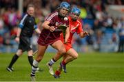 3 May 2015; Shauna Healy, Galway, in action against Briege Corkery, Cork. National Camogie League, Division 1 Final, Cork v Galway. Semple Stadium, Thurles, Co. Tipperary. Picture credit: Cody Glenn / SPORTSFILE