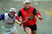 3 June 2000; Gerard McGratten of Down in action against Philip Wickham of New York during the Guinness Ulster Senior Hurling Championship Quarter-Final between Down and New York at Casement Park in Belfast. Photo by Ray McManus/Sportsfile