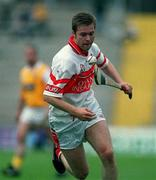 9 July 2000; John O'Dwyer of Derry during the Guinness Ulster Hurling Championship Final match between Derry and Antrim at Casement Park in Belfast. Photo By Aoife Rice/Sportsfile