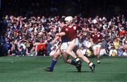 4 September 1988; Tony Keady, Galway, in action against Donie O'Connell, Tipperary. Galway v Tipperary, All Ireland Hurling Final, Croke Park, Dublin. Picture credit; Ray McManus/ SPORTSFILE