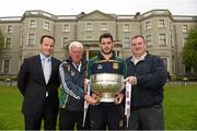 6 May 2015; Meath footballer Donal Keogan and manager Mick O'Dowd, left, with Meath County Board secretary Francis Flynn and Meath County Board PRO Martin O'Halloran, right, in attendance at the launch of the 2015 Leinster GAA Senior Championships. Farmleigh House & Gardens, Phoenix Park, Dublin. Picture credit: Stephen McCarthy / SPORTSFILE