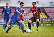 8 May 2015; Shane Tracy, Limerick FC, in action against Paddy Kavanagh, Bohemians. SSE Airtricity League Premier Division, Bohemians v Limerick FC, Dalymount Park, Dublin. Picture credit: David Maher / SPORTSFILE