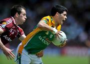 15 June 2008; Emlyn Mulligan, Leitrim, in action against Damien Burke, Galway. GAA Football Connacht Senior Championship Semi-Final, Galway v Leitrim, Pearse Stadium, Galway. Picture credit: Brian Lawless / SPORTSFILE