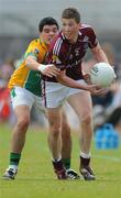 15 June 2008; Gareth Bradshaw, Galway, in action against Emlyn Mulligan, Leitrim. GAA Football Connacht Senior Championship Semi-Final, Galway v Leitrim, Pearse Stadium, Galway. Picture credit: Ray Ryan / SPORTSFILE