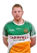 6 May 2015; Niall Darby, Offaly. Offaly Football Squad Portraits. Walsh Island, Co. Offaly. Picture credit: David Maher / SPORTSFILE