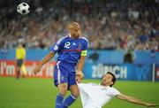 17 June 2008; Thierry Henry, France, in action against Gianluca Zambrotta, Italy. UEFA EURO 2008TM, France v Italy, Letzigrund Stadion, Zurich, Switzerland. Picture credit; Paul Mohan / SPORTSFILE