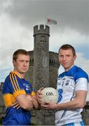 11 May 2015; In attendance at the 2015 Munster GAA Senior Championships Launch are footballers Brian Fox, left, Tipperary, and Thomas O'Gorman, Waterford. Blackrock Castle, Blackrock, Cork. Picture credit: Brendan Moran / SPORTSFILE