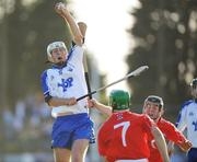 25 June 2008; Cormac Curran, Waterford, in action against Cork players William Egan, 7, and Seamus Farrell. ESB Munster Minor Hurling Championship semi-final, Waterford v Cork, Walsh Park, Co. Waterford. Picture credit: Matt Browne / SPORTSFILE