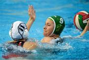 15 May 2015; Lynn Hanna-Short, Ireland, in action against Melanie Adler, Switzerland. Ireland Water Polo 8 Nations Tournament, Ireland v Switzerland. National Aquatic Centre, Dublin. Picture credit: Sam Barnes / SPORTSFILE