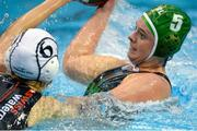 15 May 2015; Orla Monaghan, Ireland, in action against Fiona Schmid, Switzerland. Ireland Water Polo 8 Nations Tournament, Ireland v Switzerland. National Aquatic Centre, Dublin. Picture credit: Sam Barnes / SPORTSFILE