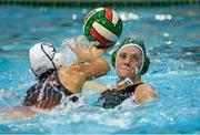 LIVE  15 May 2015; Deirdre Cassidy, Ireland, in action against Nadja Hartmann, Switzerland. Ireland Water Polo 8 Nations Tournament, Ireland v Switzerland. National Aquatic Centre, Dublin. Picture credit: Sam Barnes / SPORTSFILE