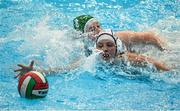 15 May 2015; Melanie Adler, Switzerland, in action against Sinead Mcardle, Ireland. Ireland Water Polo 8 Nations Tournament, Ireland v Switzerland. National Aquatic Centre, Dublin. Picture credit: Sam Barnes / SPORTSFILE