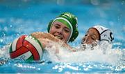 15 May 2015; Orla Monaghan, Ireland, in action against Begina Von Ballmoos, Switzerland. Ireland Water Polo 8 Nations Tournament, Ireland v Switzerland. National Aquatic Centre, Dublin. Picture credit: Sam Barnes / SPORTSFILE