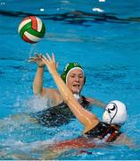 15 May 2015; Lynn Hanna-Short, Ireland, in action against Giulia Lecureux, Switzerland. Ireland Water Polo 8 Nations Tournament, Ireland v Switzerland. National Aquatic Centre, Dublin. Picture credit: Sam Barnes / SPORTSFILE