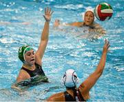15 May 2015; Lisa Kelly, Ireland, in action against Sanja Badulescu, Switzerland. Ireland Water Polo 8 Nations Tournament, Ireland v Switzerland. National Aquatic Centre, Dublin. Picture credit: Sam Barnes / SPORTSFILE